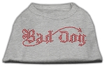 Bad Dog Rhinestone Shirts Grey XS